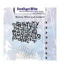 IndigoBlu Cling Mounted Stamp 5\u0022X4\u0022-Rivets Wire & Letters