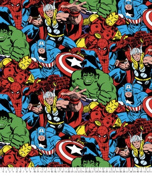Marvel Comics Fleece Fabric -Comic Pack