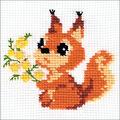 RIOLIS Combopu Cama 5\u0027\u0027x5\u0027\u0027 Counted Cross Stitch Kit-Small Squirrel