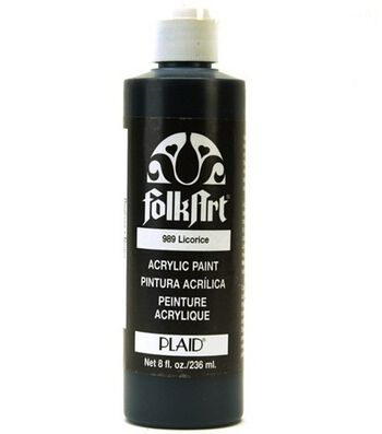FolkArt Acrylic Paint-Black Licorice