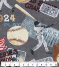 Anti-Pill Plush Fleece Fabric-Baseball Championship