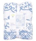 No-Sew Throw Fleece Fabric 72\u0022-Denim Patch