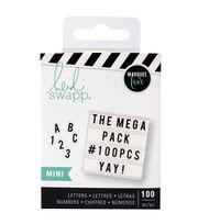 Heidi Swapp Mini Mega Pack Lightbox Inserts-Black Alphabets & Numbers, , hi-res