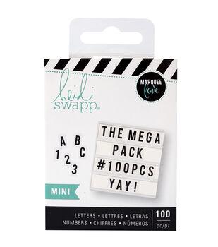 Heidi Swapp Mini Mega Pack Lightbox Inserts-Black Alphabets & Numbers