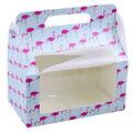 Hello Summer Baking 2 pk Large Treat Boxes with Window-Flamingos