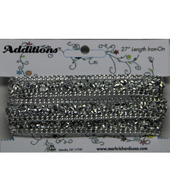 Chain Rhinestone Strips Iron On