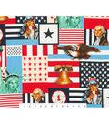 Patriotic Cotton Fabric 45\u0027\u0027-Lady Liberty