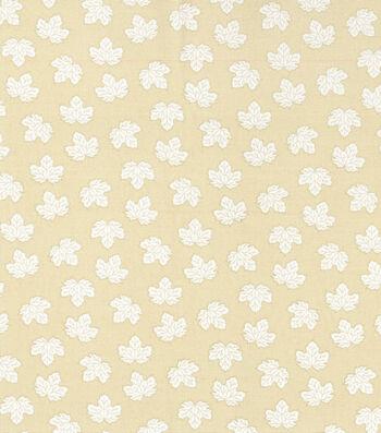 Harvest Cotton Fabric-Mini Tossed Leaves on Cream