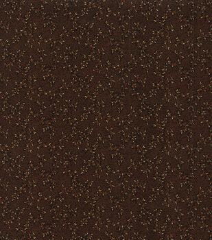 Harvest Cotton Fabric-Brown Glitter Vines