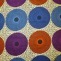 Global Cotton Shirting Fabric-Gyro Circles on Cream