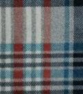 Specialty Luxe Fleece Fabric 59\u0027\u0027-Bison Gray Plaid