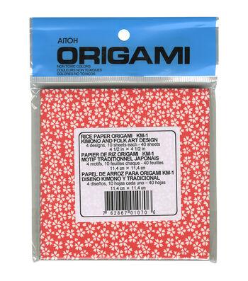 """Origami Paper 4.5""""X4.5"""" 40/Pkg-Kimono & Folk Art"""