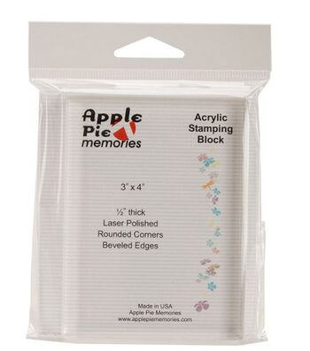 "Apple Pie Memories Acrylic Stamp Block-3""X4""X.5"""