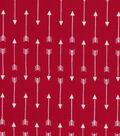 Quilter\u0027s Showcase Cotton Fabric 44\u0027\u0027-Arrows on Red