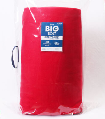 The BIG Bolt Blizzard Fleece Fabric 58''x30 yds-Chili Red