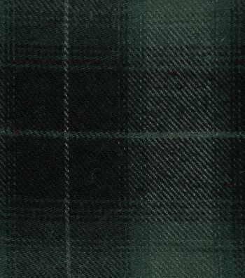 Shirting Cotton Fabric -Green & Navy Ombre Plaid