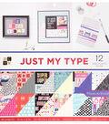DCWV 36 pk 12\u0027\u0027x12\u0027\u0027 Premium Printed Cardstock Stack-Just My Type