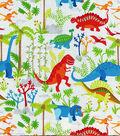 Novelty Cotton Fabric -Dinosaurs