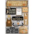 Karen Foster Basketball Cardstock Stickers Basketball Champ