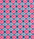 Silky Crepe Fabric 53\u0022-Multi Geo Blocked