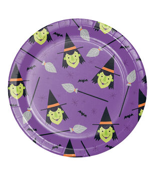Maker's Halloween 8 pk 8.88'' Dinner Plates-Witches