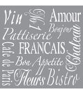 DecoArt Americana Decor 12\u0027\u0027x12\u0027\u0027 Stencil-French Living