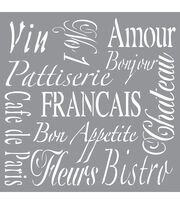 DecoArt Americana Decor 12''x12'' Stencil-French Living, , hi-res