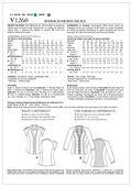 Mccall Pattern V1260 All Sizes -Vogue Pattern