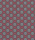 Quilter\u0027s Showcase Cotton Fabric 44\u0022-Red Navy Diamond Blender