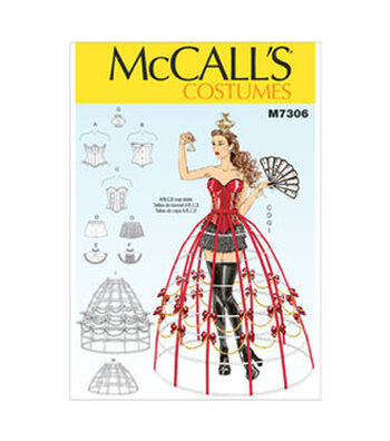 McCall's Pattern M7306-Corsets, Shorts, Collars, Hoop Skirts and Crown