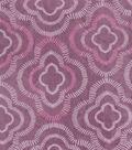 Anti-Pill Plush Fleece Fabric-Sketched Quatrefoil