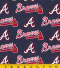 Atlanta Braves Cotton Fabric 58\u0027\u0027-Logo