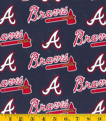 Atlanta Braves Cotton Fabric -Logo