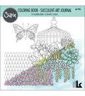 Sizzix Lynda Kanase 8\u0027\u0027x8\u0027\u0027 Coloring Book-Succulent Art Journal
