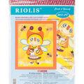 RIOLIS Create it Yourself 6\u0027\u0027x7\u0027\u0027 Beaded Embroidery Kit-Granny Bee