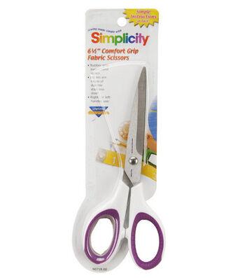 "Simplicity 6-1/2"" Comfort Grip Scissor"