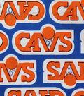 Cleveland Cavaliers Cotton Fabric 44\u0022-Vintage Logo