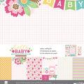 Paper House Paper Crafting Kit 12\u0022X12\u0022-Hello Baby Girl