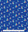 Tutti Fruitti Fabric -Ahoy Sea Life on Navy
