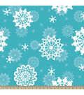 Anti-Pill Fleece Fabric 59\u0022-Snowflakes