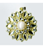 Blue Moon Beads Pendant Starburst Clear Rhinestone W Gold, , hi-res