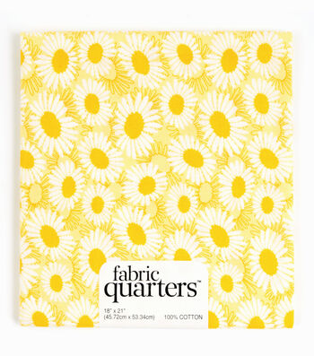 """Fabric Quarters Cotton Fabric 18""""-Assorted Yellow"""