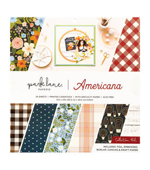 Park Lane Paperie 12''x12'' Printed Cardstock Collection Pad-Americana