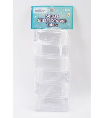 Square Glitter Storage Tubes 6pc