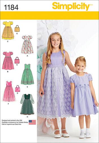 Simplicity Pattern 1184K5 7-8-10-12--Children