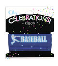 Offray Celebrations Ribbon 7/8\u0022 x 9\u0027- Sports