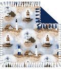 No-Sew Throw Fleece Fabric 72\u0022-Lighthouse