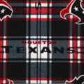 Houston Texans Fleece Fabric -Plaid