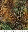 Batik Cotton Fabric-Packed Paisley Gold