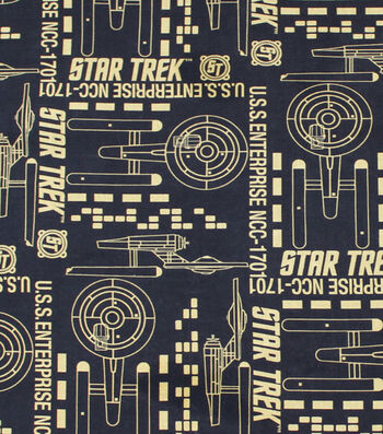 "Star Trek™ Cotton Fabric 44""-Enterprise"
